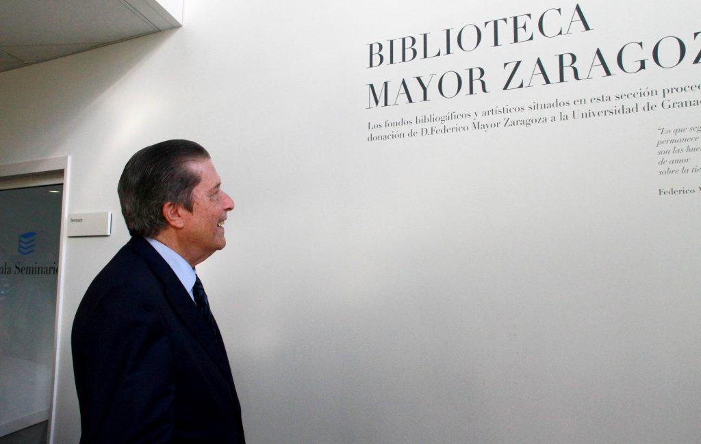Donación a la UGR por parte de Mayor Zaragoza