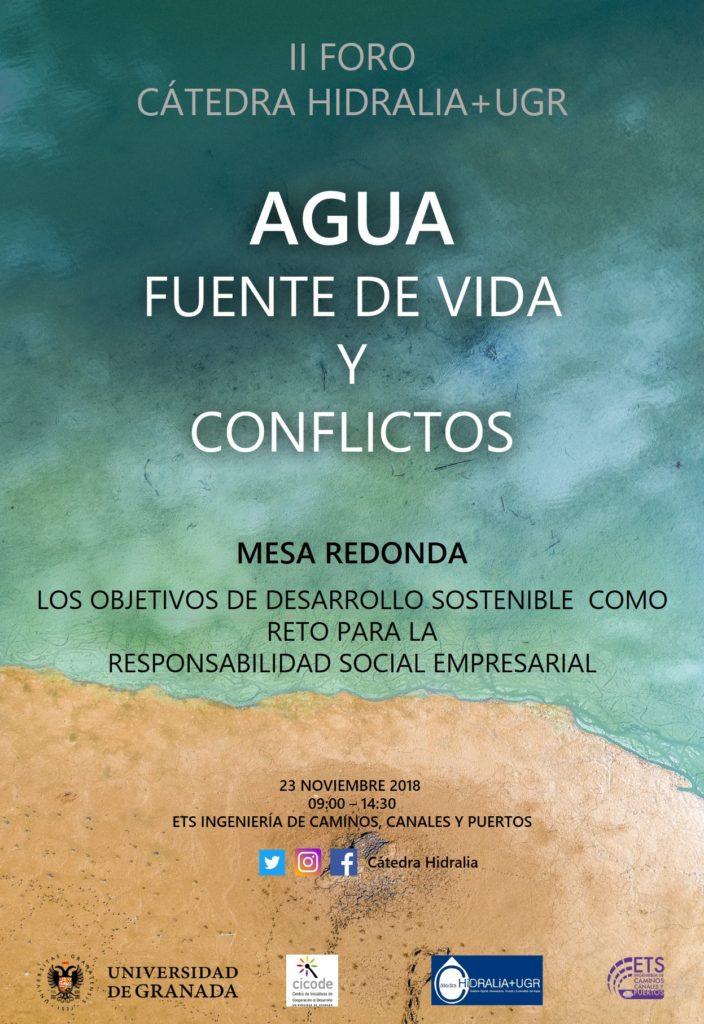 II Foro de la Cátedra Hidralia+UGR: Agua: Fuente de vida y Conflictos